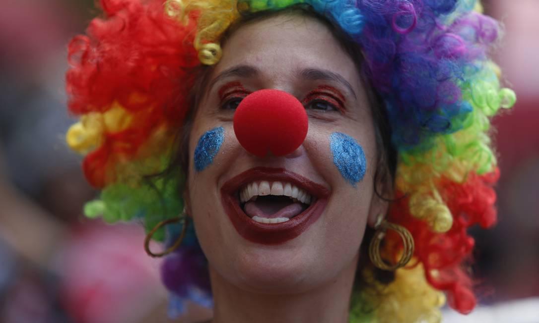O Corre Atrás fez seu 15º desfile nesta segunda-feira de carnaval Foto: Fabiano Rocha / Agência O Globo