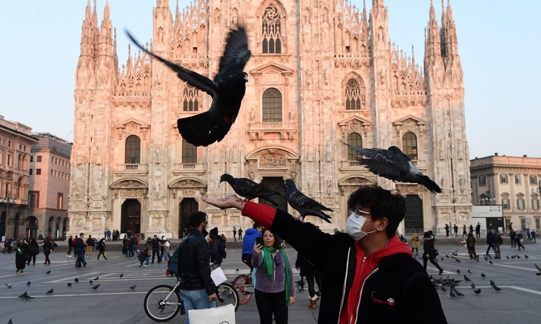 A Itália é o lugar com mais casos de coronavírus na Europa Foto: Miguel Medina / AFP