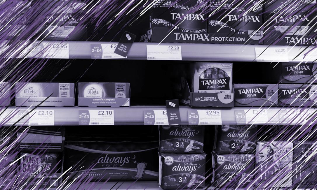 O Parlamento Escocês aprovou a distribuição gratuita de absorventes para todas as mulheres Foto: Russell Cheyne / Reuters