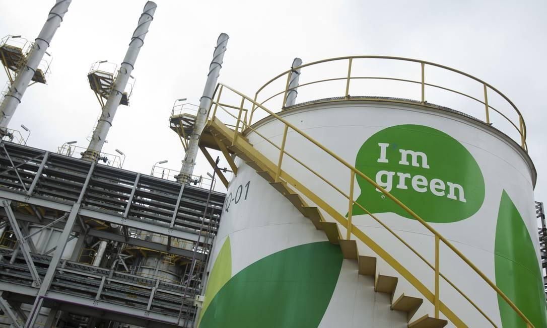 Unidade da Braskem no Rio Grande do Sul, onde a empresa produz plástico a partir do etanol Foto: / Divulgação
