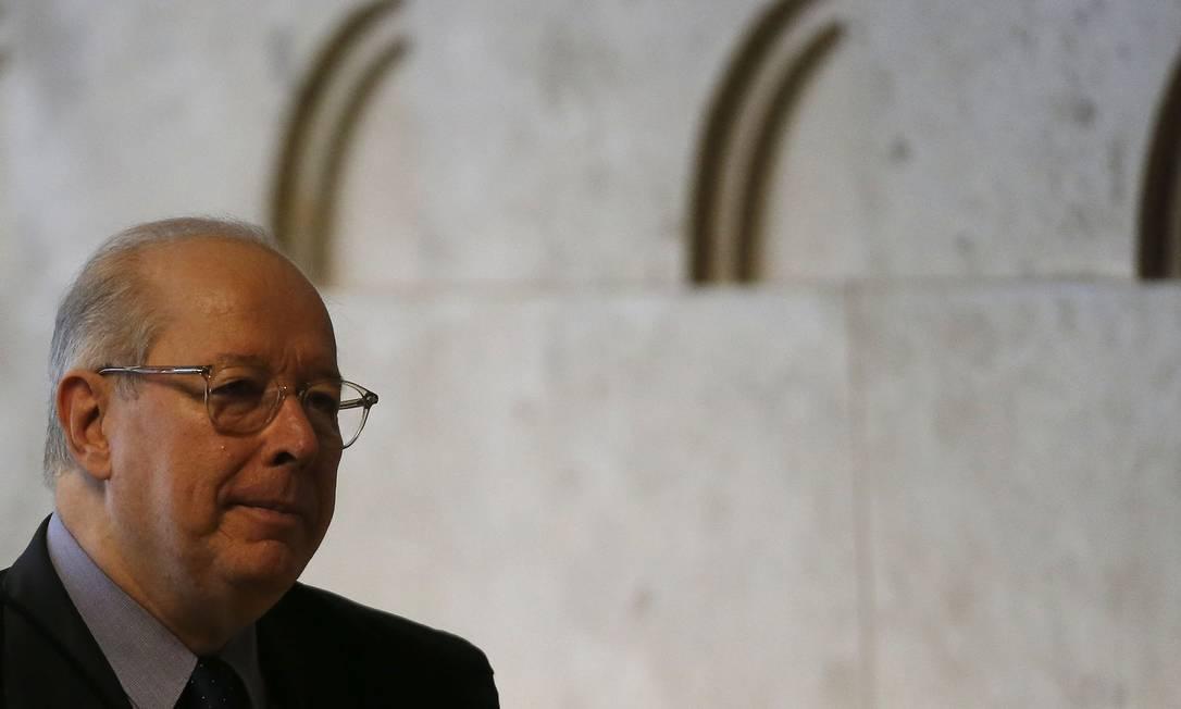 O ministro Celso de Mello, durante sessão do STF Foto: Jorge William/Agência O Globo/07-11-2019