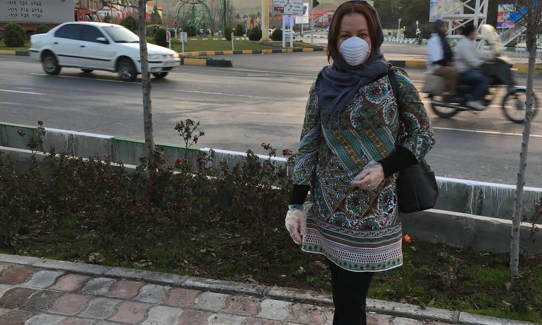 A professora universitária Cilene Victor, que viajou ao Irã para participar de uma conferência que foi cancelada por causa do surto de coronavírus e agora não consegue retornar ao Brasil por falta de voos Foto: Arquivo pessoal