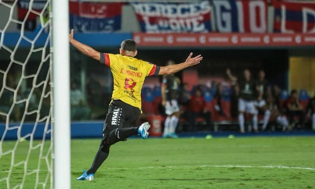 Gol de Martínez para o Barcelona de Guayaquil Foto: Divulgação/Barcelona