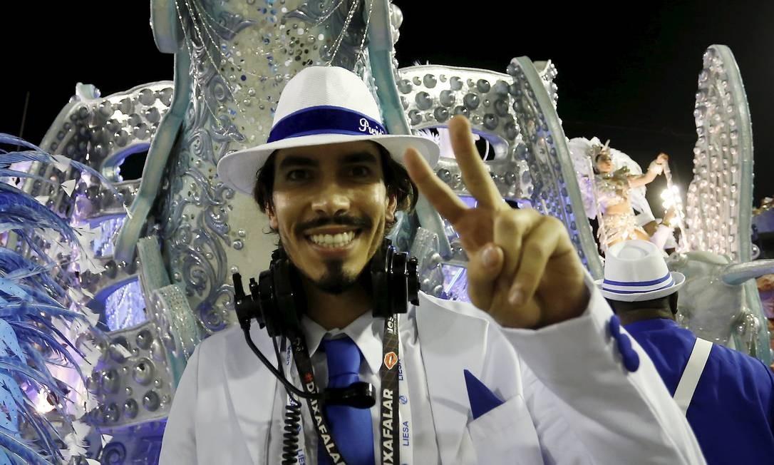 Gabriel David durante o desfile da Beija-Flor em 2020 Foto: MARCELO THEOBALD / Agência O Globo