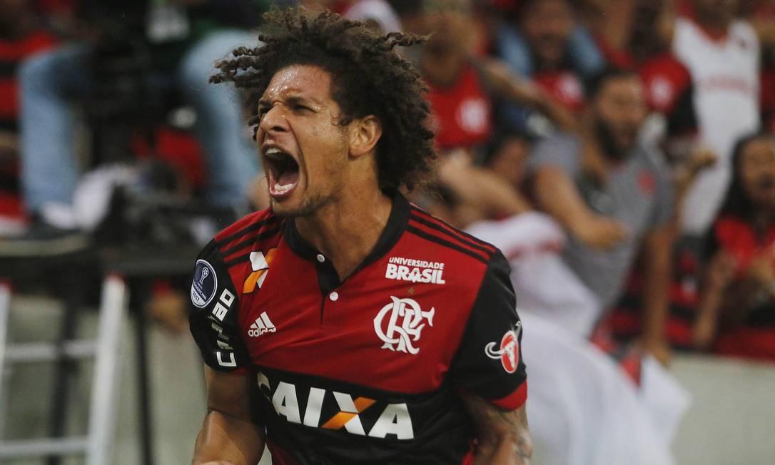 William Arão está fora da estreia do Flamengo na Libertadores Foto: Reginaldo Pimenta / Raw Image
