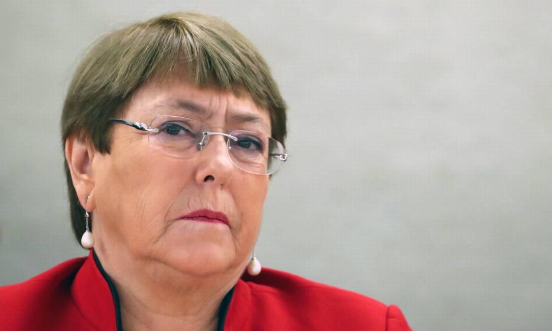 Alta comissária da ONU para os Direitos Humanos, Michele Bachelet participa de reunião em Genebra Foto: DENIS BALIBOUSE / Reuters / 24-02-2020