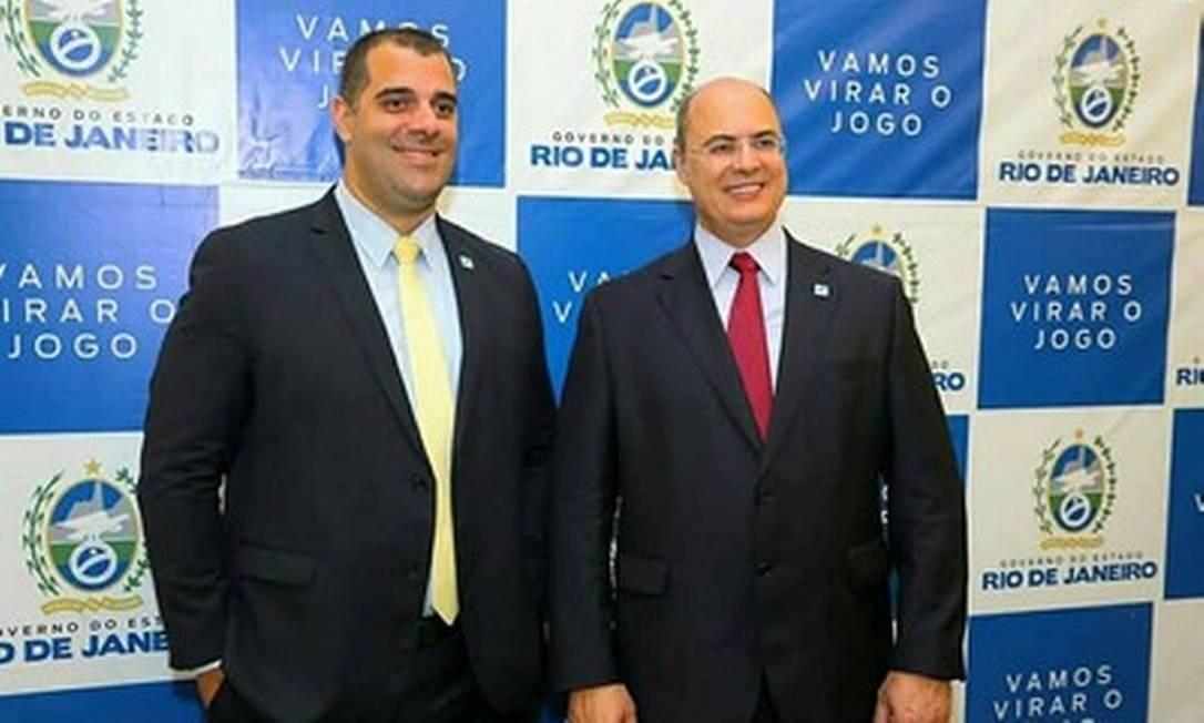 Lucas Tristão e Wilson Witzel em uma das agendas do governo no Palácio Guanabara Foto: Divulgação