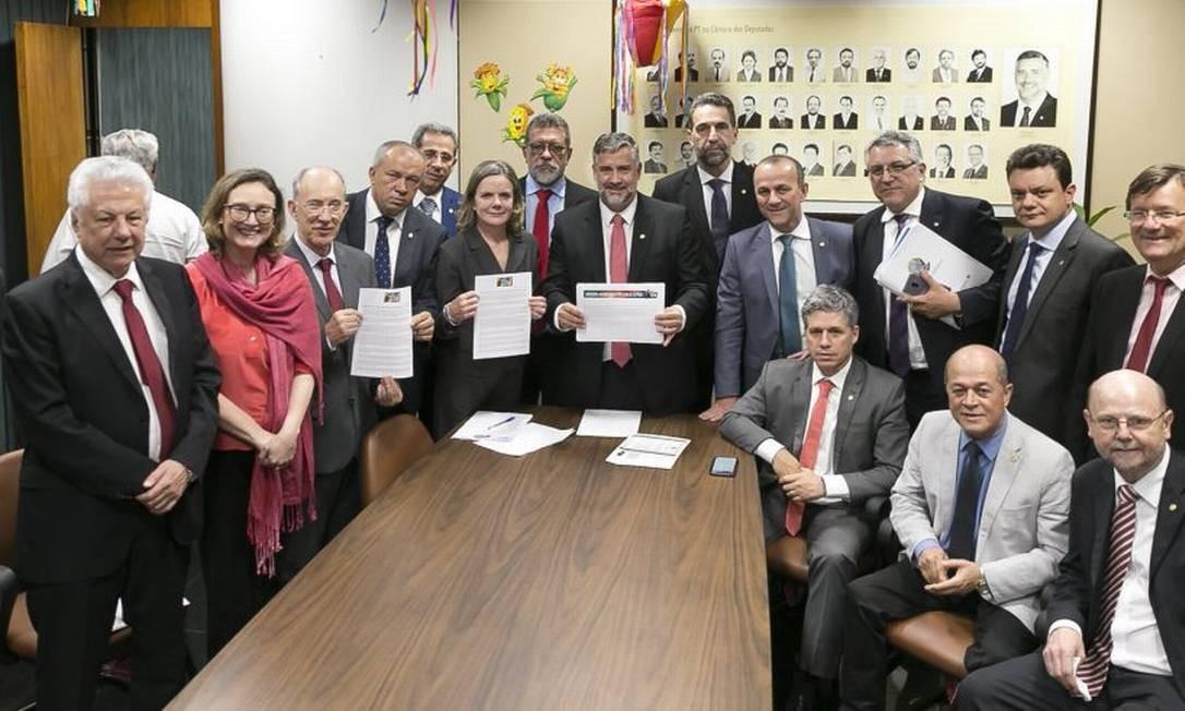Bancada do PT na Câmara Foto: Divulgação