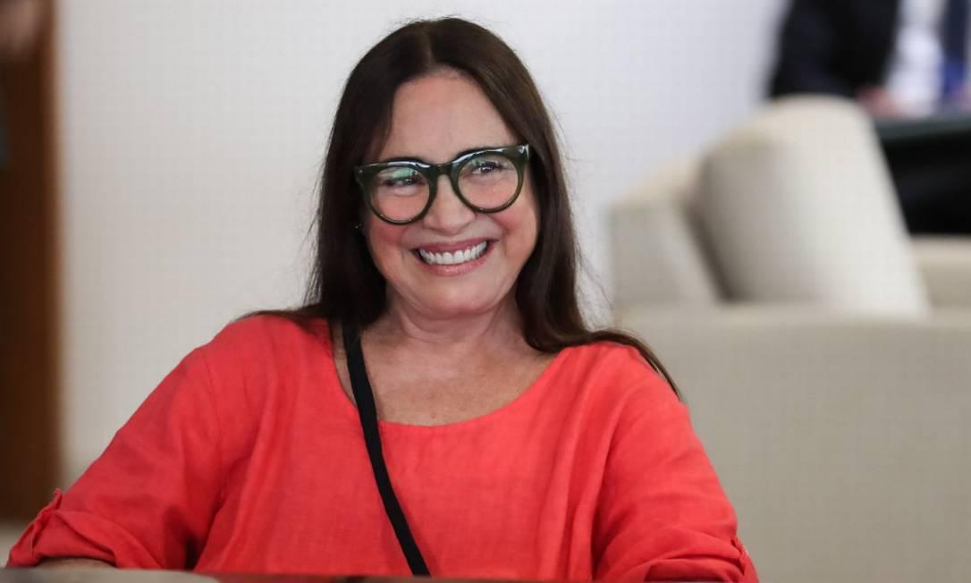 A atriz Regina Duarte assumirá a Secretaria Especial da Cultura em 4 de março Foto: Agência O Globo
