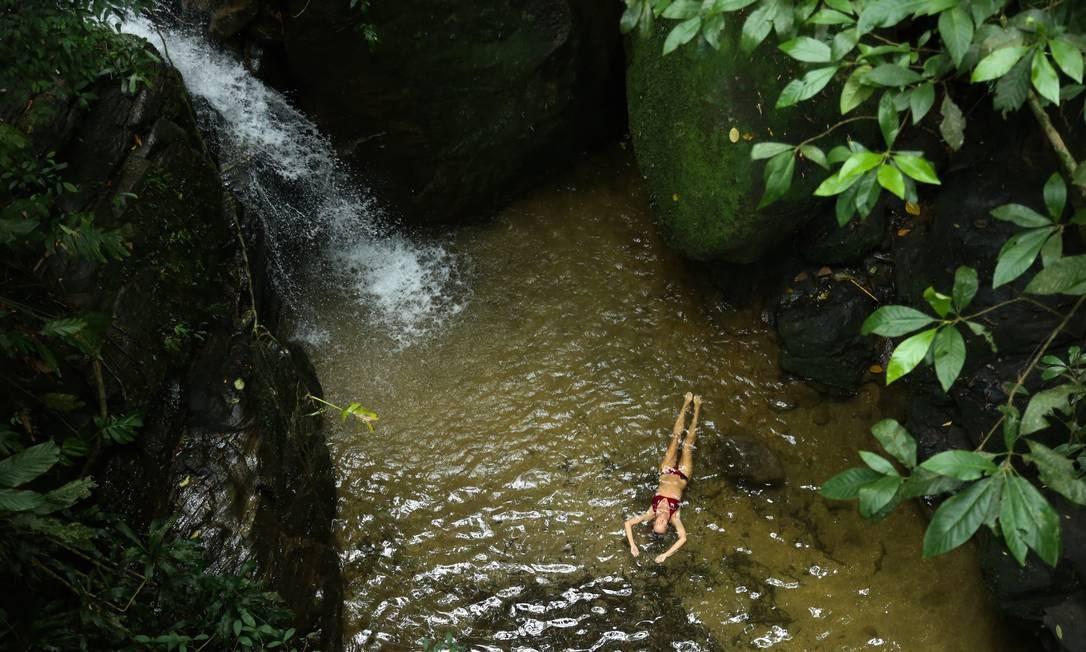Cascata da Baronesa, no Parque Nacional da Tijuca Foto: Pedro Teixeira / Agência O Globo