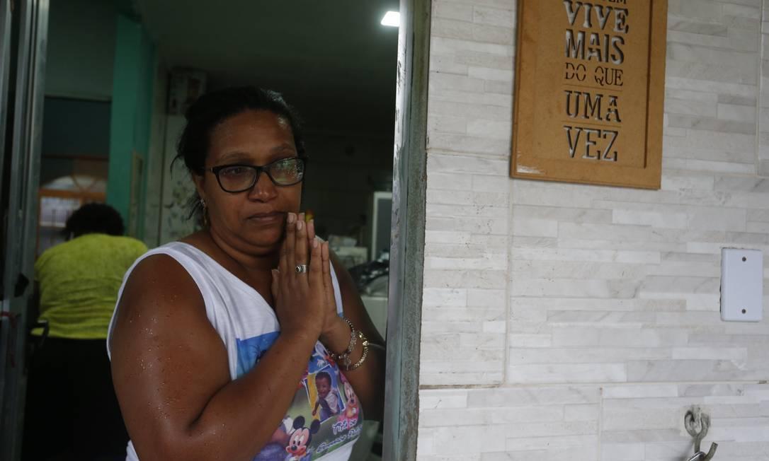 Cristiane de Oliveira da Conceição: 'Perdemos tudo. Tudo mesmo' Foto: Fabiano Rocha / Agência O Globo