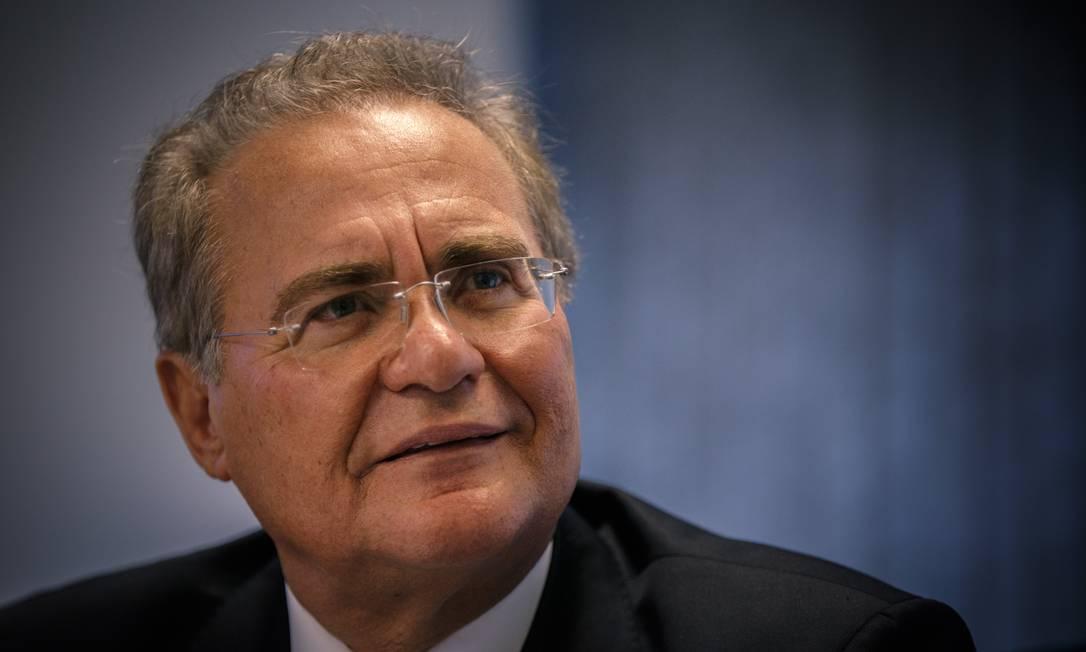 O senador Renan Calheiros (MDB-AL) Foto: Daniel Marenco / Agência O Globo