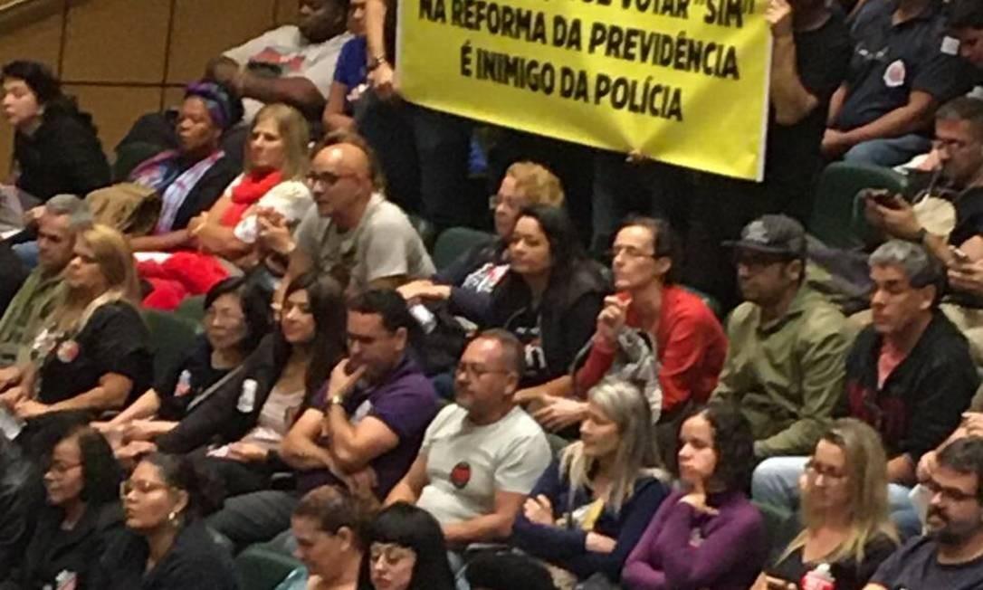 Votação da reforma da previdência na Alesp Foto: Suzana Correa