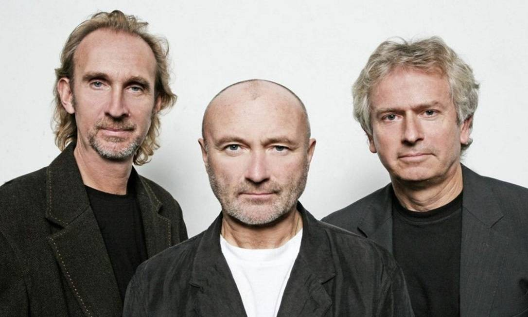 Mike Rutherford (à esquerda), Phil Collins e Tony Banks: o Genesis em 2007 Foto: Divulgação