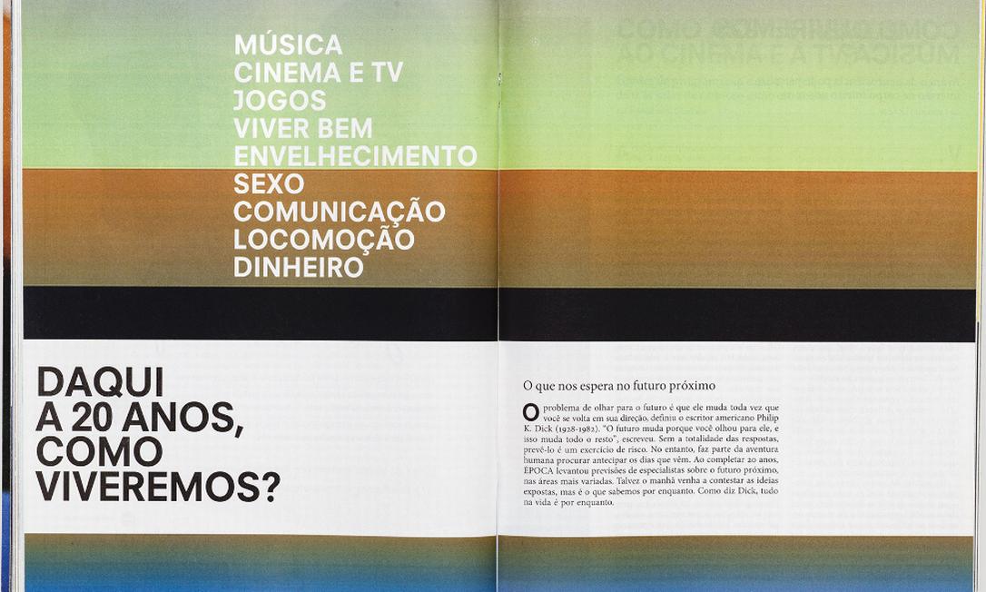 Páginas da revista ÉPOCA selecionadas para o prêmio Latin American Design Awards Foto: Reprodução