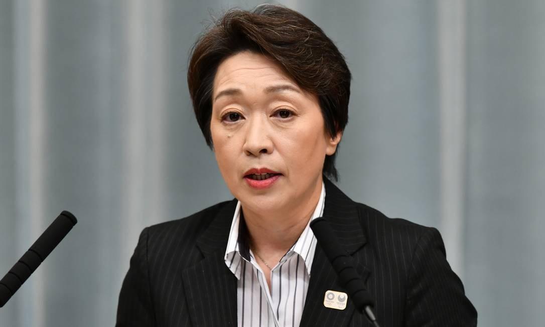 Seiko Hashimoto, ministra olímpica dos Jogos de Tóquio-2020 Foto: TOSHIFUMI KITAMURA / Agência O Globo