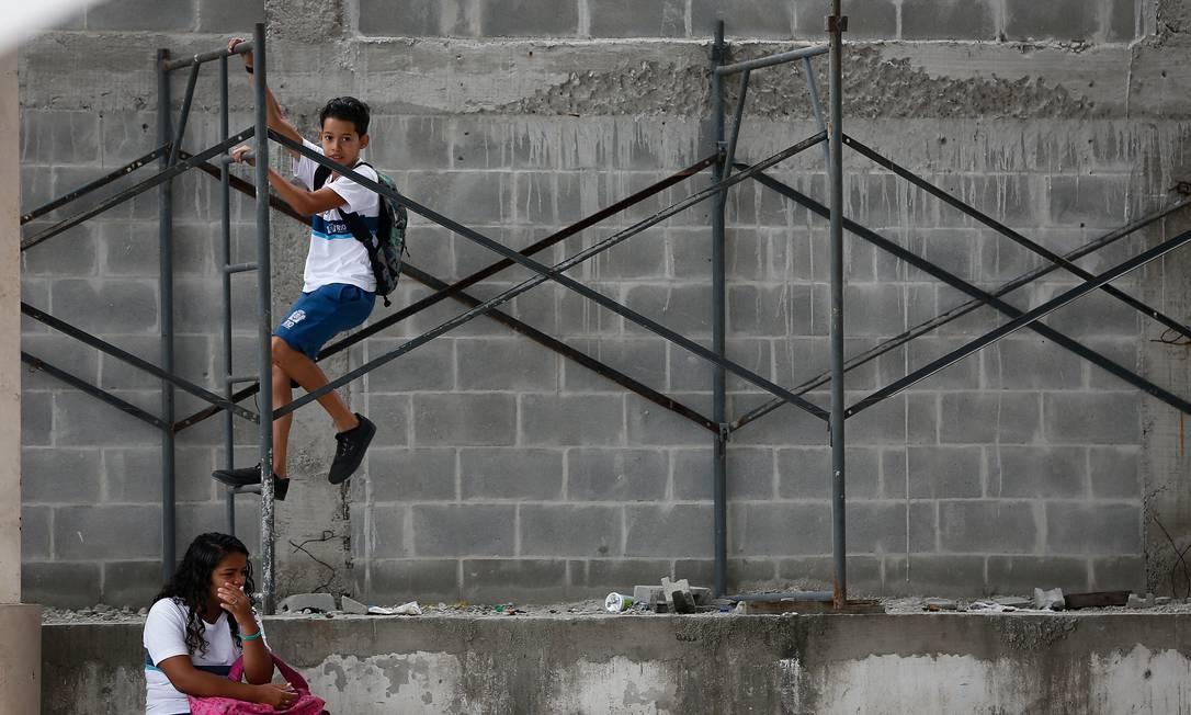 Fundeb pode pagar, entre outras coisas, por obras em escolas Foto: Pablo Jacob / Agência O Globo
