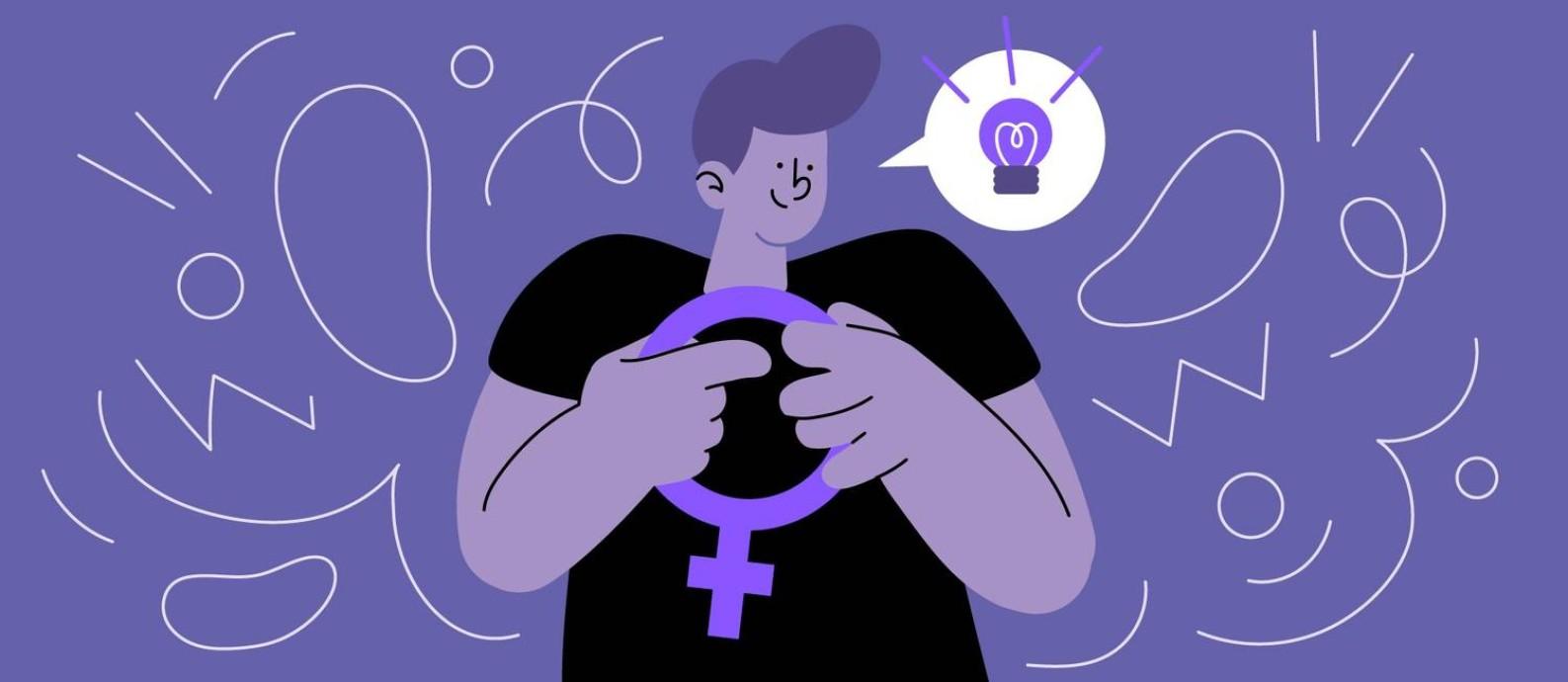 Apesar de não serem protagonistas, homens podem contribuir para a luta pela equidade de gênero. Foto: Arte de Paula Cruz