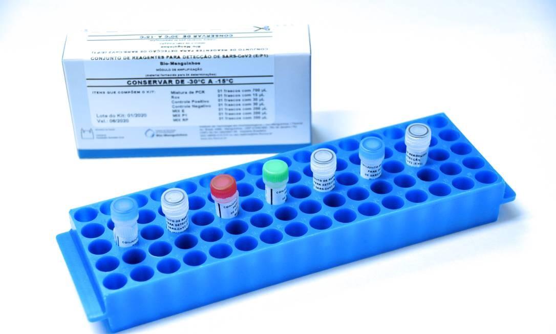 Um dos kits de diagnóstico que serão entregues ao estado Foto: Divulgação/Fiocruz