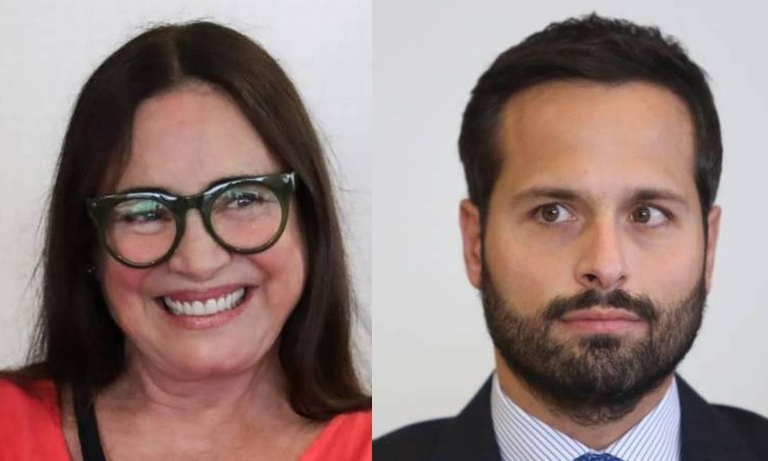 Regina Duarte e Marcelo Calero Foto: Marcos Alves / Agência O Globo