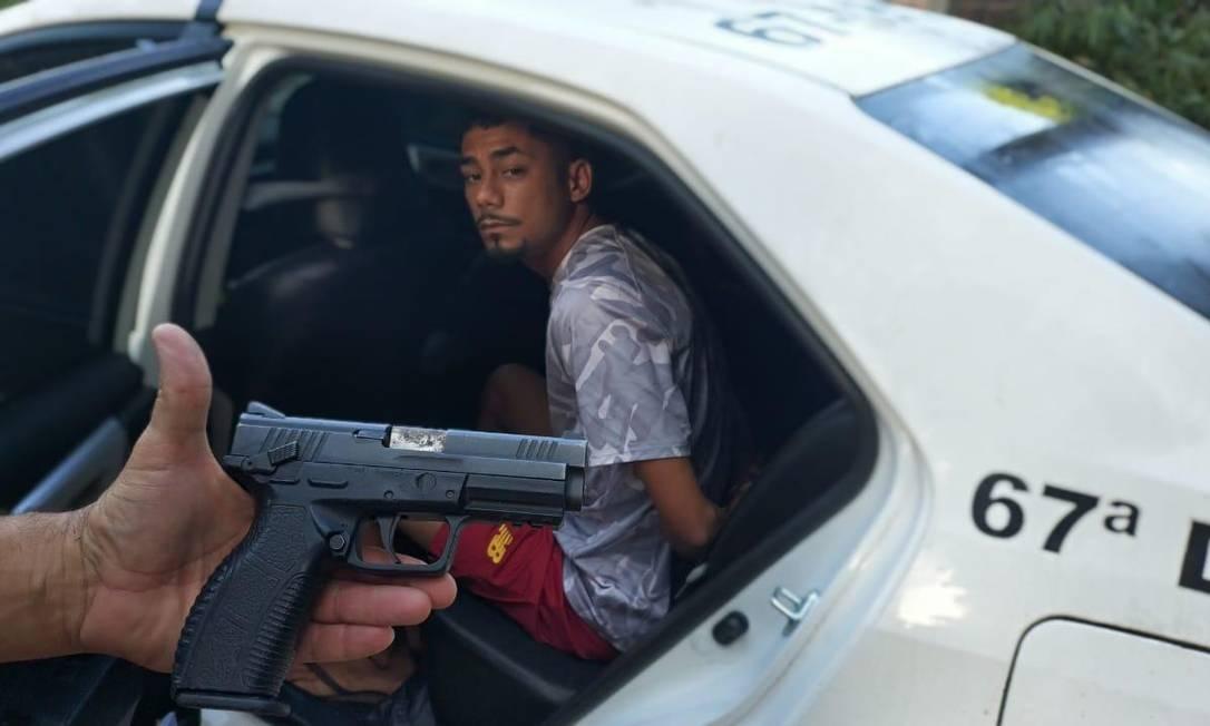 Um dos presos na operação Foto: Redes sociais / Reprodução