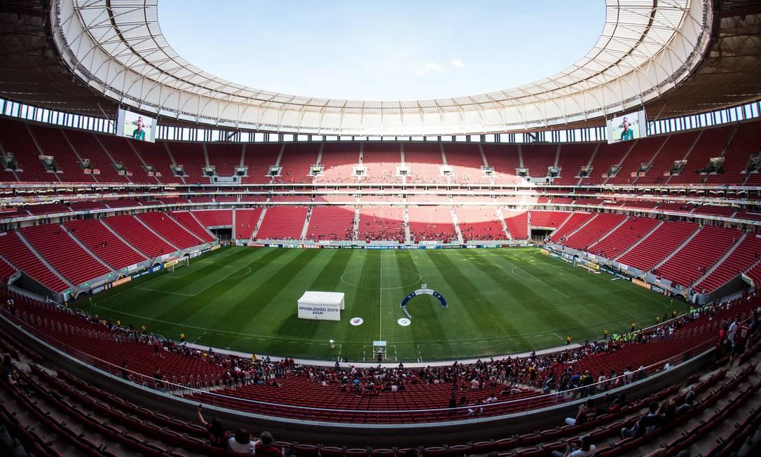 Estádio Mané Garrincha, em Brasília Foto: Alexandre Vidal/Flamengo