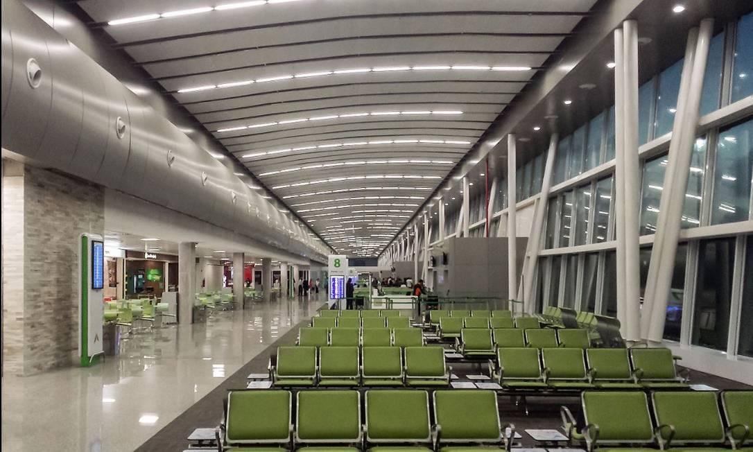 Saguão do Aeroporto Internacional de Natal, em São Gonçalo do Amarante (RN) Foto: Reprodução/Site oficial