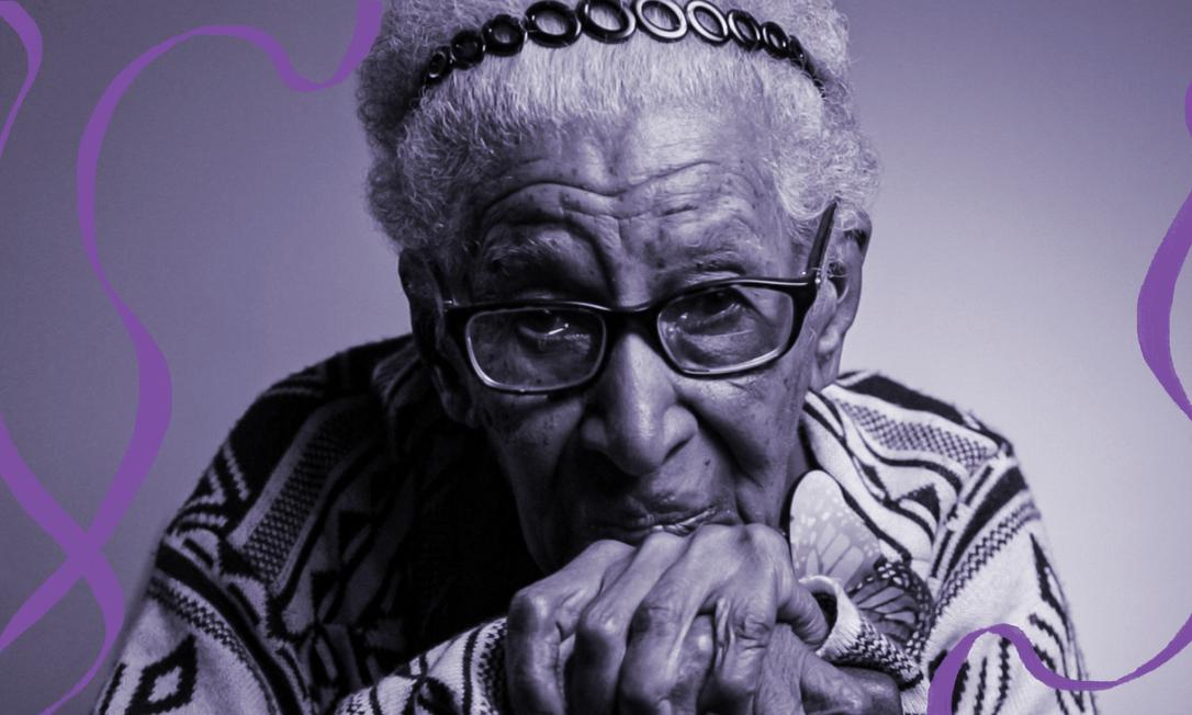 Maria Soares, a Dona Santinha, ativista de 95 anos que inspira a luta de feministas mais jovens por direitos Foto: Fernando Lemos