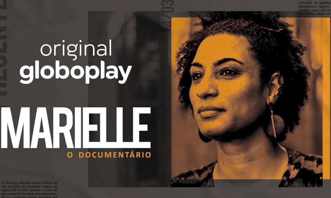 """Cartaz da série """"Marielle - O documentário"""" Foto: Divulgação"""