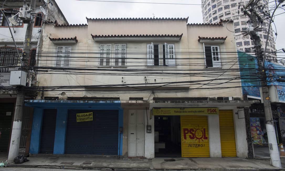 Sede do partido, na Rua Doutor Celestino, onde foi deixada a carta com as ameaças. Foto: Maria Isabel Oliveira / Agência O Globo