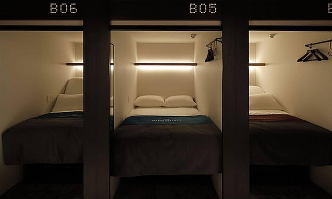 Cabines do The Millennials, rede de hotéis tecnológicos no Japão Foto: Divulgação