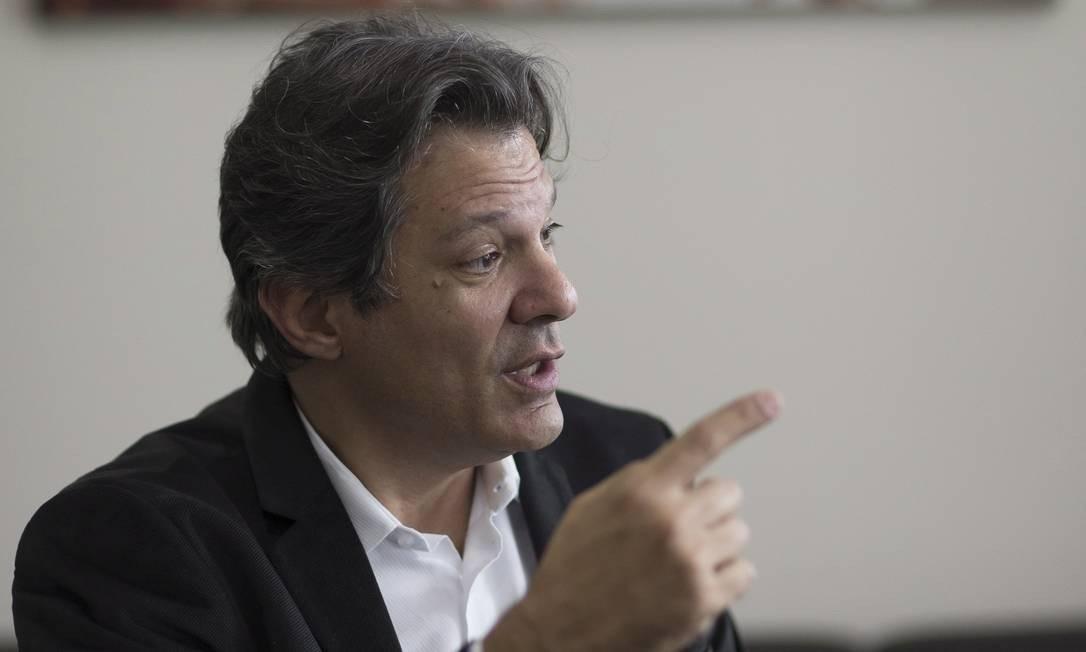 Fernando Haddad Foto: Edilson Dantas/Agência O Globo