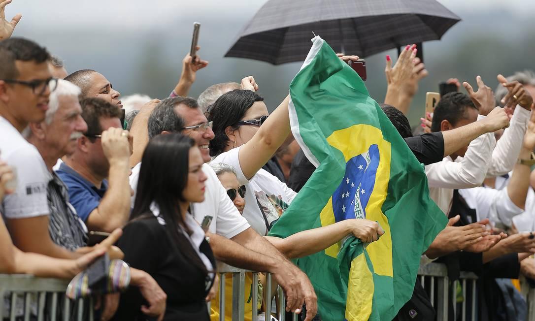 Apoiadores de Bolsonaro durante lançamento do Aliança pelo Brasil 21/11/2019 Foto: Jorge William / Agência O Globo