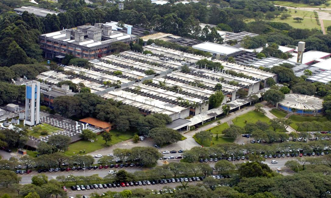 Vista aérea do campus da Universidade de São Paulo (USP) no Butantã, na capital paulista. Foto: Divulgação