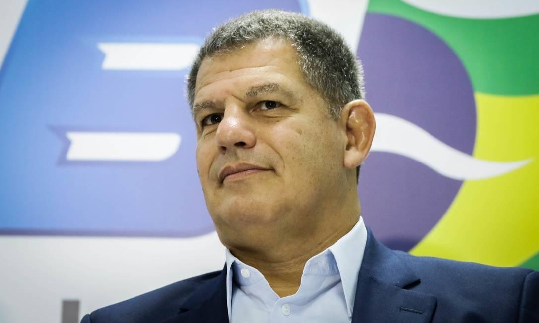 Gustavo Bebianno na cerimônia de lançamento da pré-candidatura à Prefeitura do Rio Foto: Fotoarena / Agência O Globo