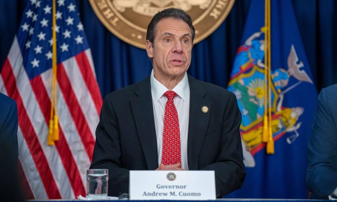 O governador do estado de Nova York, Andrew Cuomo Foto: David Dee Delgado / AFP