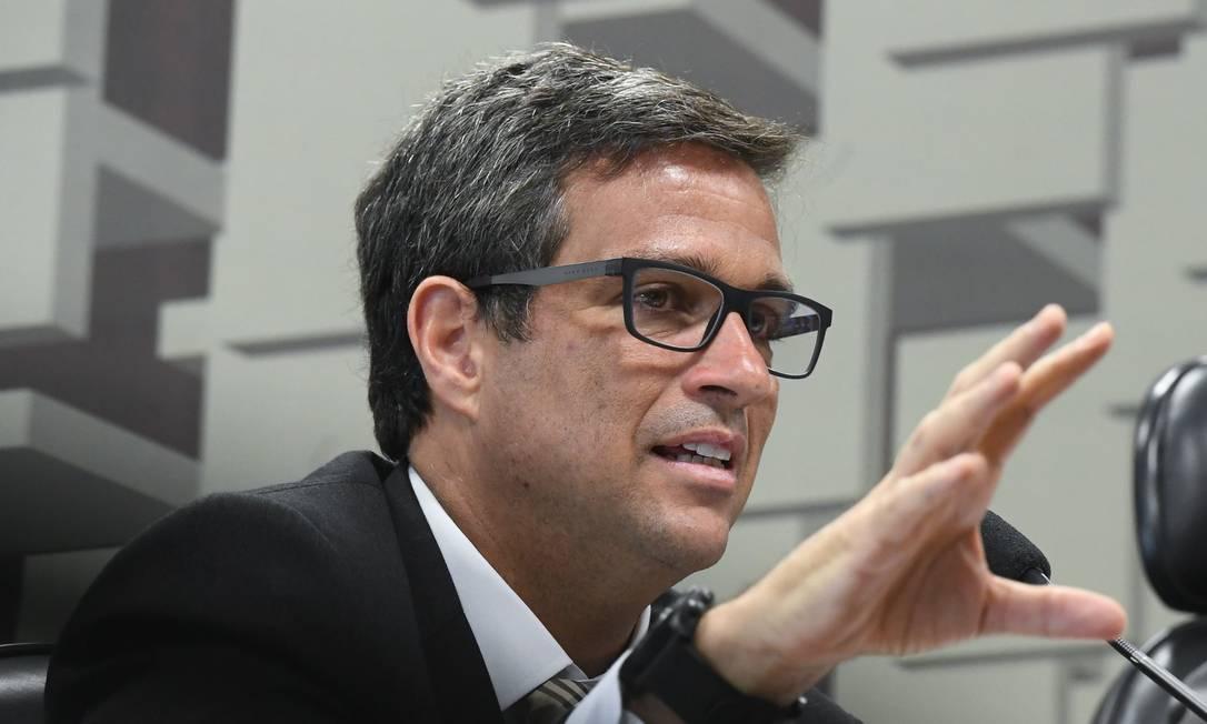 Campos Neto anunciou um pacote de medidas para fortalecer o sistema financeiro Foto: Marcos Oliveira / Marcos Oliveira/Agência Senado