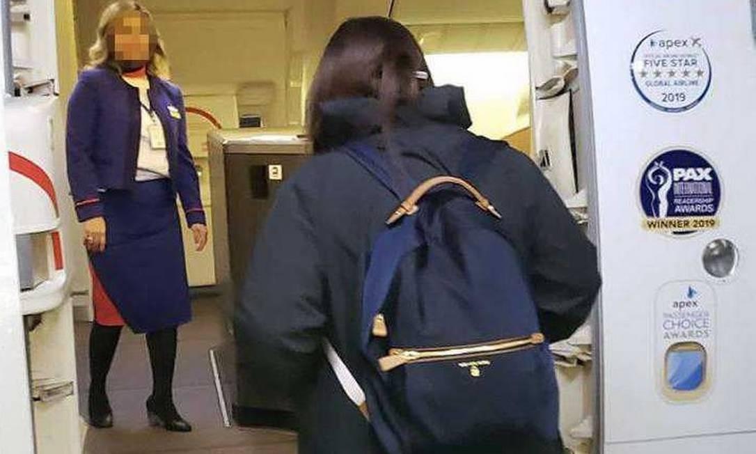 Paciente do DF com coronavírus publicou foto de embarque em Londres rumo ao Brasil Foto: Reprodução