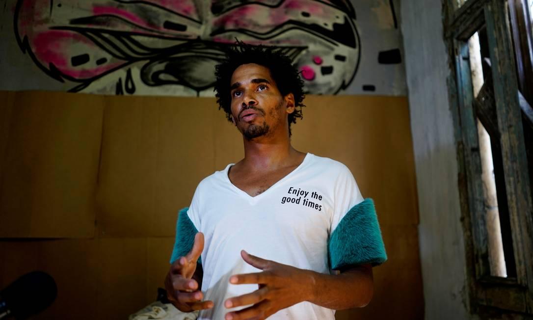 """Luis Manuel Otero Alcantara, artista cubano preso por """"ultraje aos símbolos nacionais"""" e """"danos à propriedade"""" Foto: Alexandre Meneghini / REUTERS/02-05-2018"""