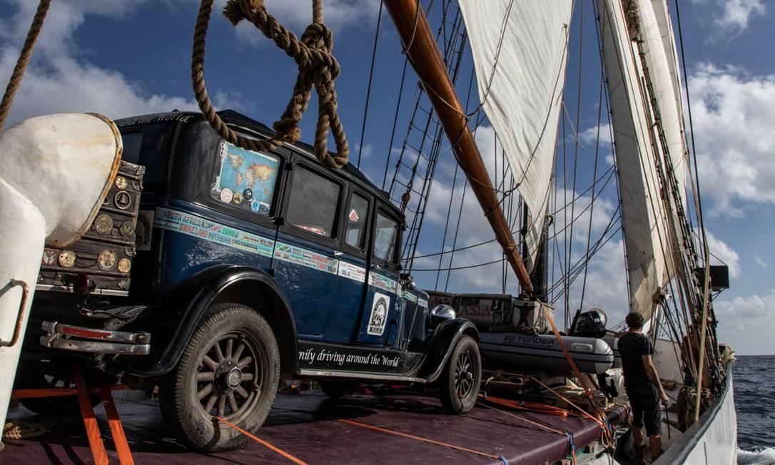 A volta à América do Sul foi em um cargueiro a vela, de 1920 Foto: CHRISTOPH BOGNER