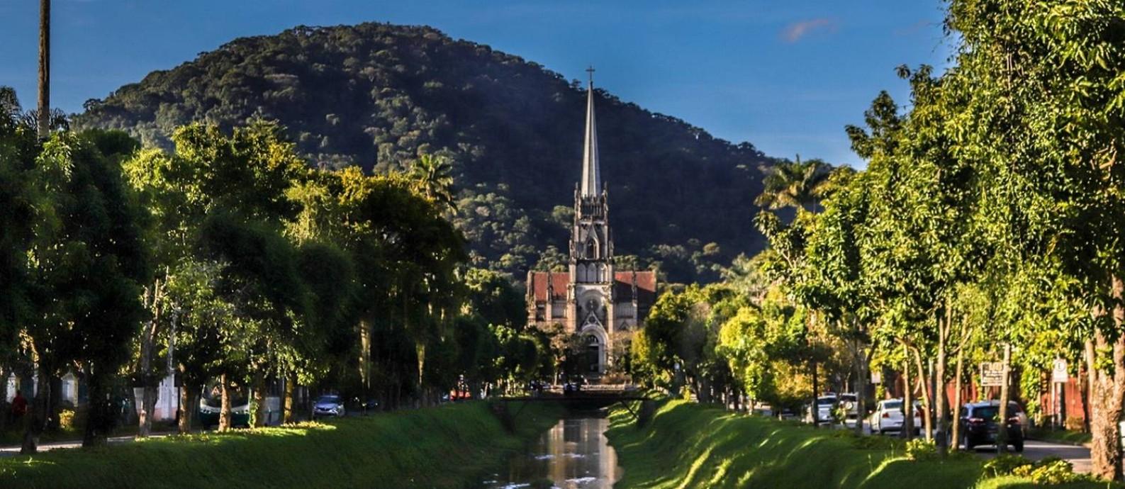Catedral de São Pedro de Alcântara, no Centro Histórico de Petrópolis Foto: Daniel Câmara / Divulgação