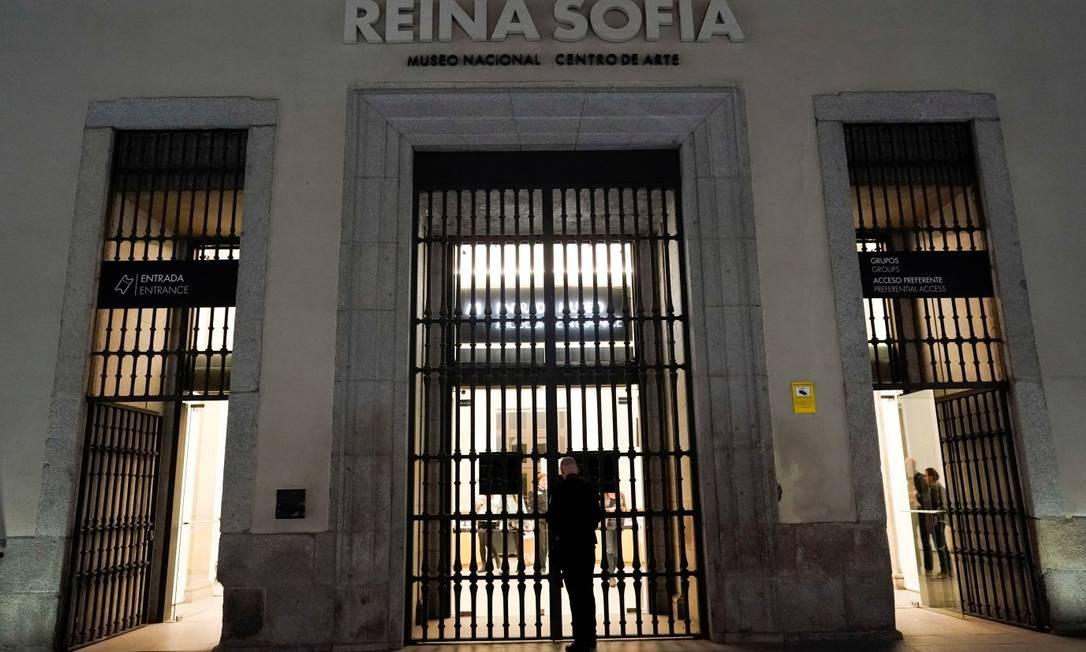 Museu Reina Sofia, em Madri: fechado ao público devido ao coronavírus Foto: JUAN MEDINA / REUTERS