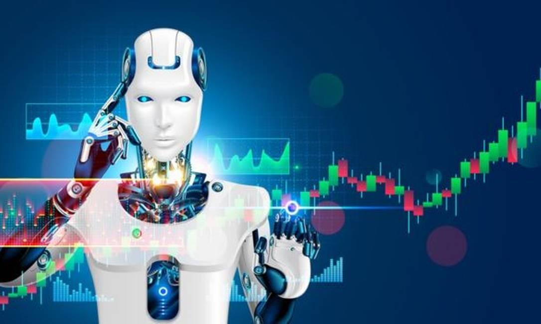 Hoje há mais transações feitas por robôs do que diretamente por humanos Foto: Getty Images