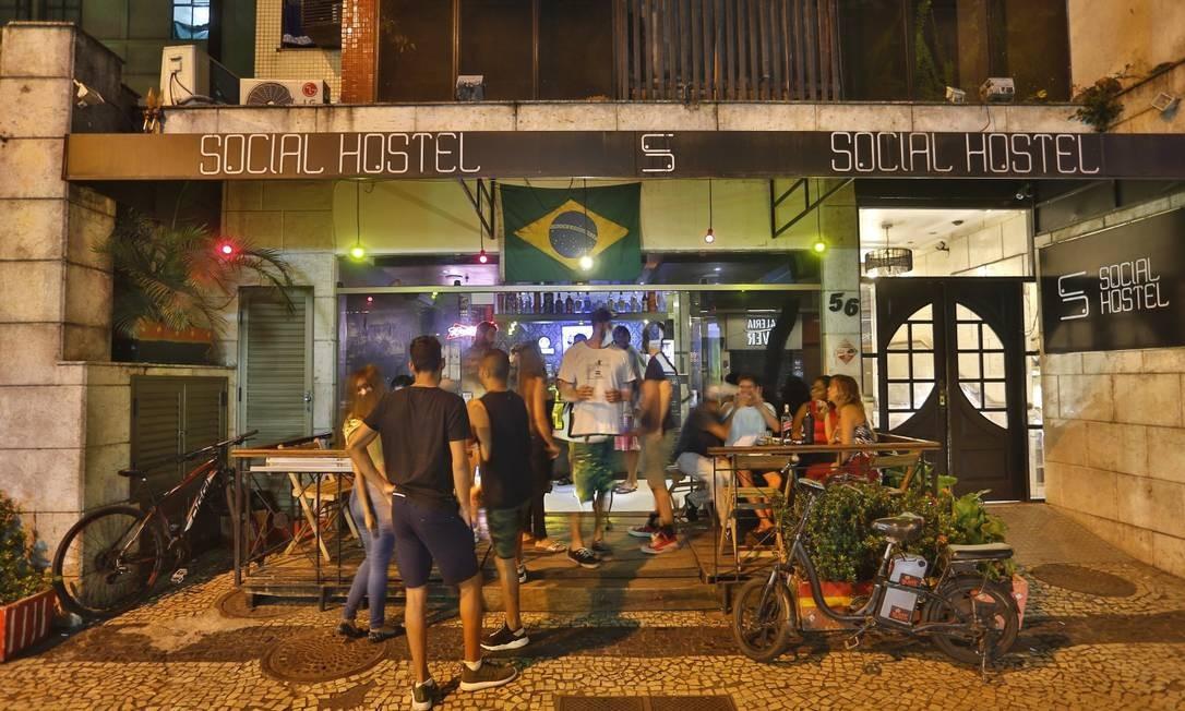 Social Hostel, no Arpoador Foto: Agência O Globo/Fabio Rossi