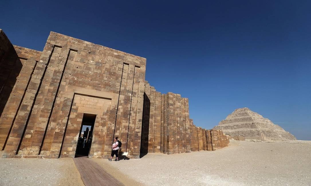 Toda a zona da necrópole de Saqqara é considerada Patrimônio da Humanidade pela Unesco Foto: Mohamed el-Shahed / AFP