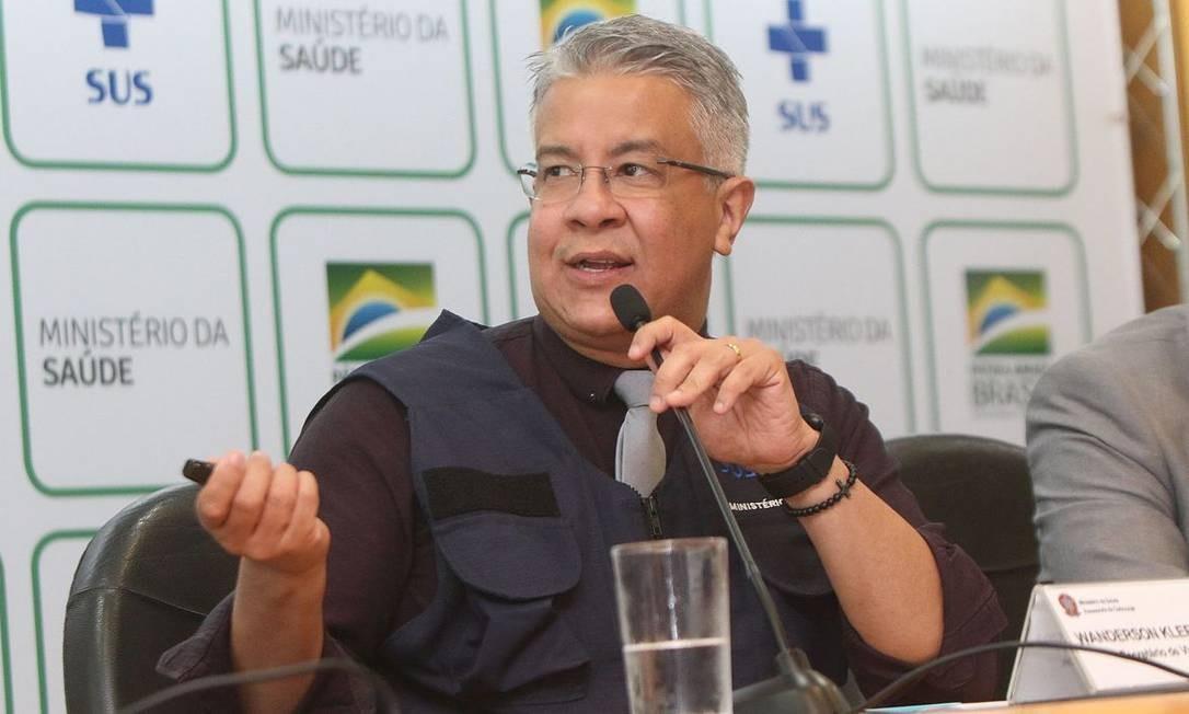 O secretário de Vigilância em Saúde do Ministério da Saúde, Wanderson de Oliveira, durante entrevista Foto: Agência Brasil