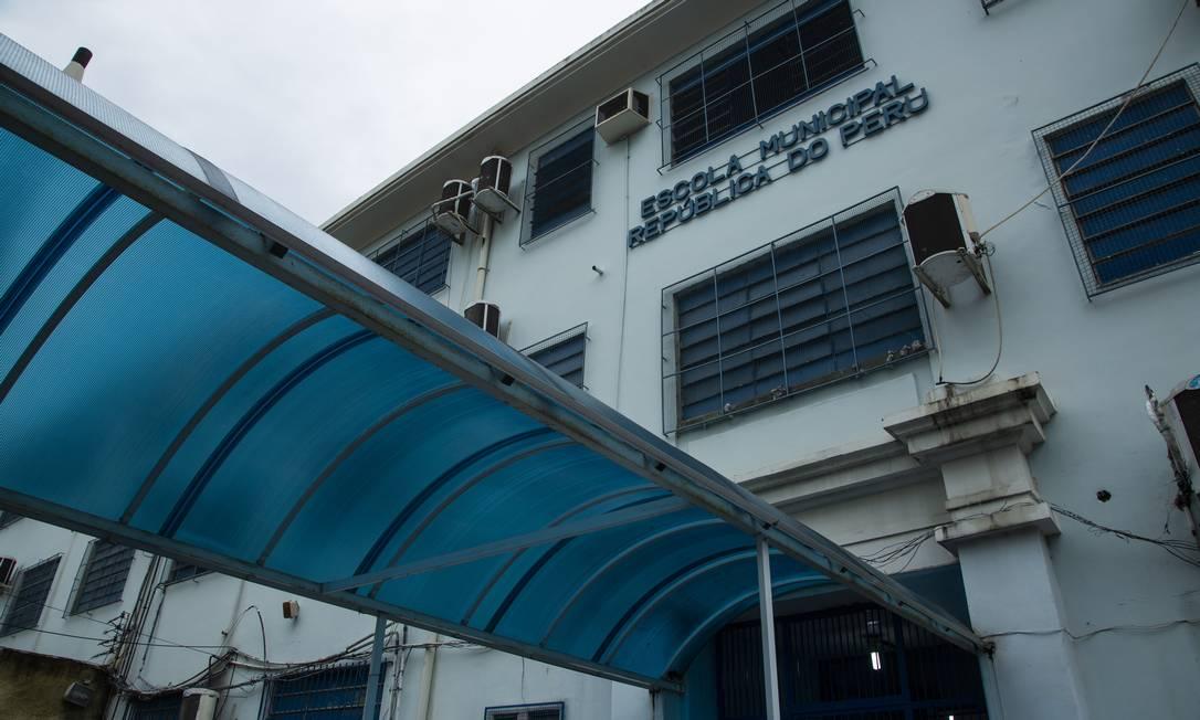 Escola municipal no Rio: suspensão das aulas pra evitar propagação do coronavírus Foto: Maria Isabel Oliveira em 06/02/2020 / Agência O Globo