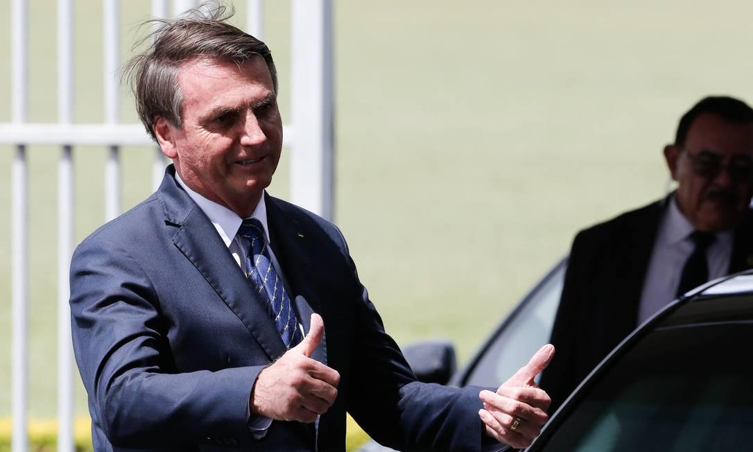 Após teste negativo para coronavírus, Bolsonaro diz que vida 'segue normal' Foto: Pablo Jacob / Agência O Globo