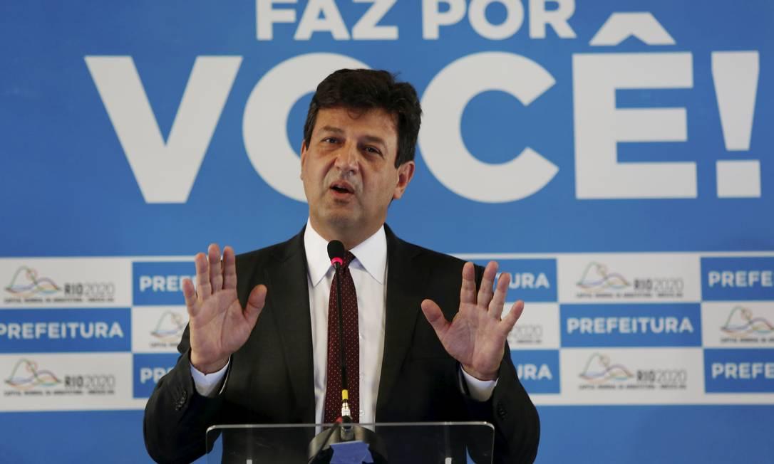 Luiz Henrique Mandetta é ministro da Saúde Foto: Fabiano Rocha / Agência O Globo