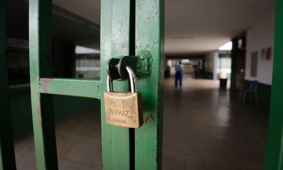 Governo do Distrito Federal suspende aulas e eventos Foto: Pablo Jacob / Agência O Globo